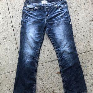 Big Star Jeans 34 some damage on the backs